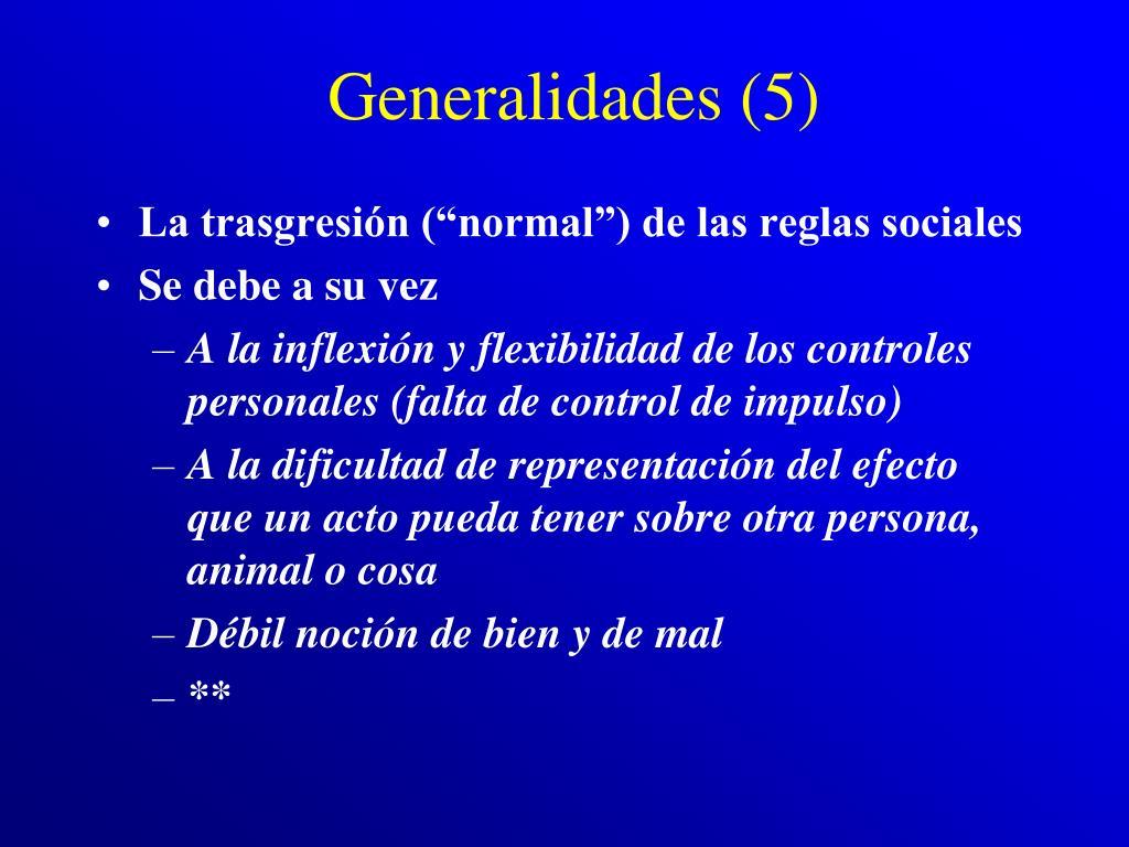 Generalidades (5)