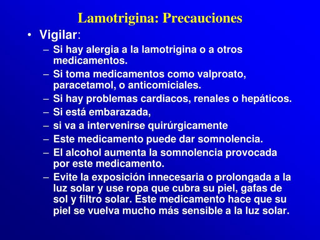 Lamotrigina: Precauciones