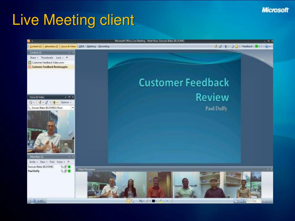 Live Meeting client