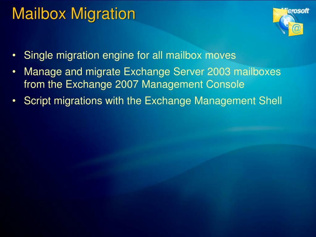 Mailbox Migration