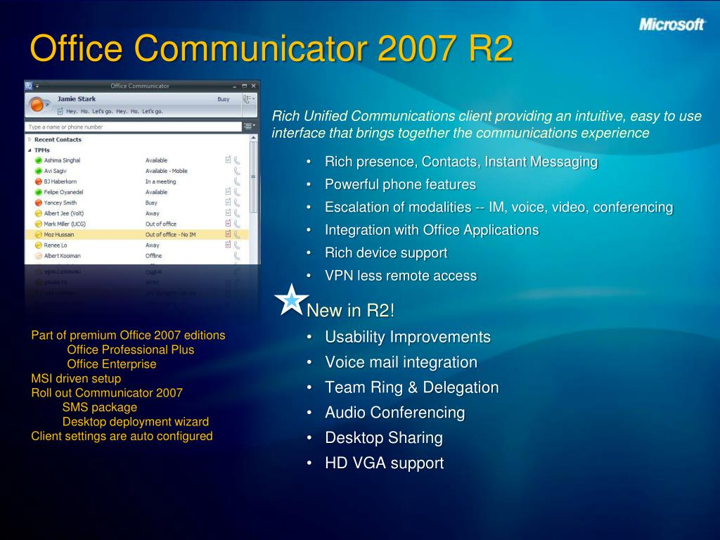 Office Communicator 2007 R2