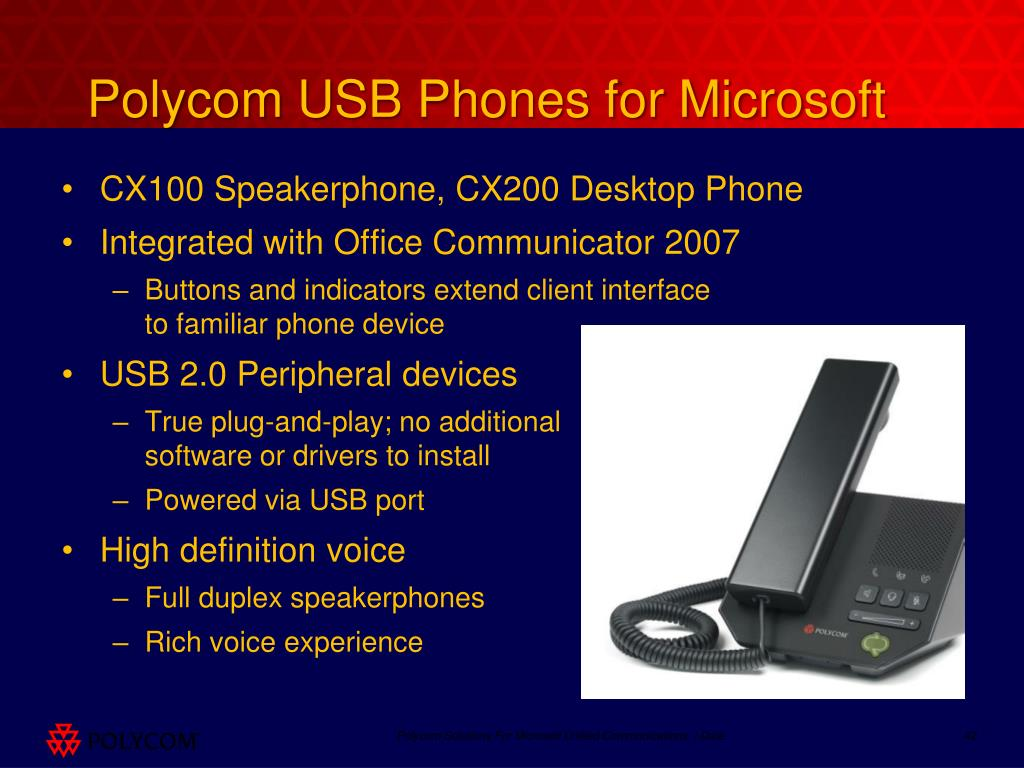 Polycom USB Phones for Microsoft