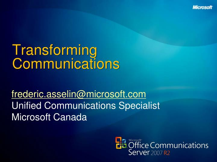 Transforming communications l.jpg