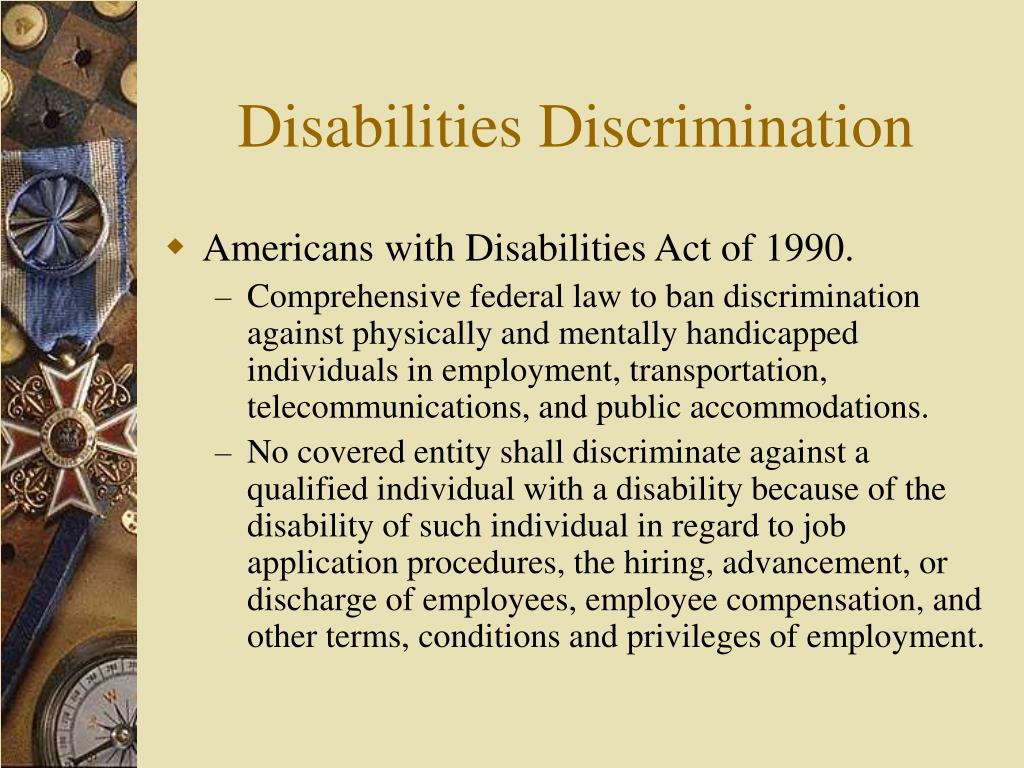 Disabilities Discrimination