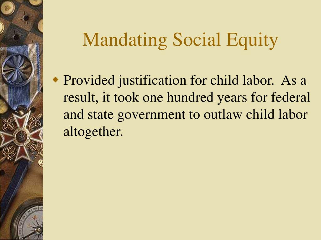 Mandating Social Equity