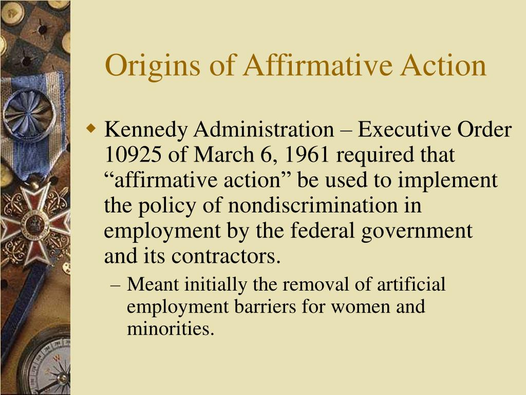 Origins of Affirmative Action