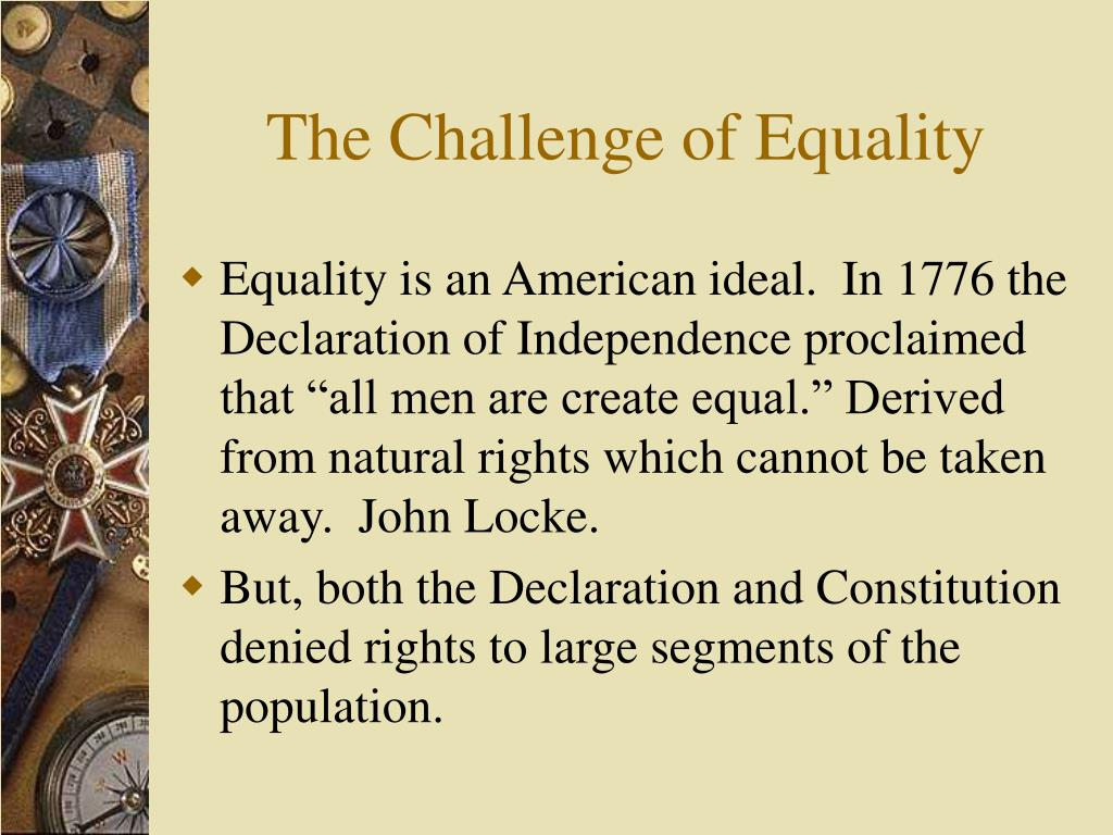 The Challenge of Equality