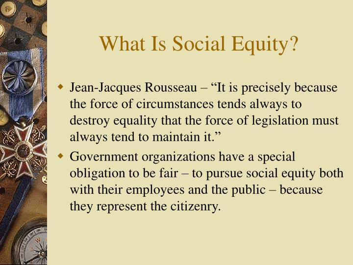 What is social equity3