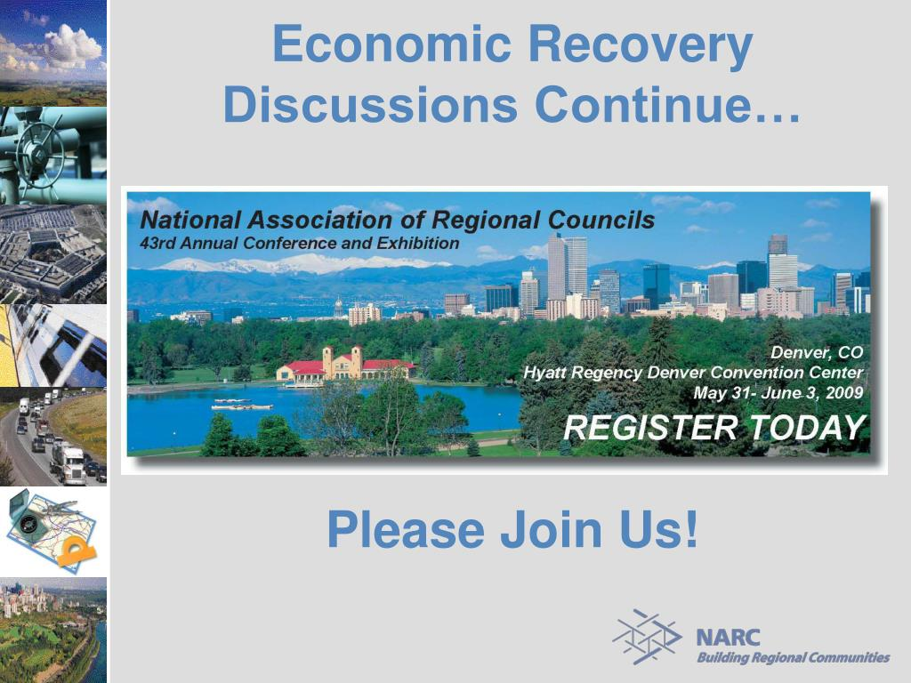 Economic Recovery Discussions Continue…