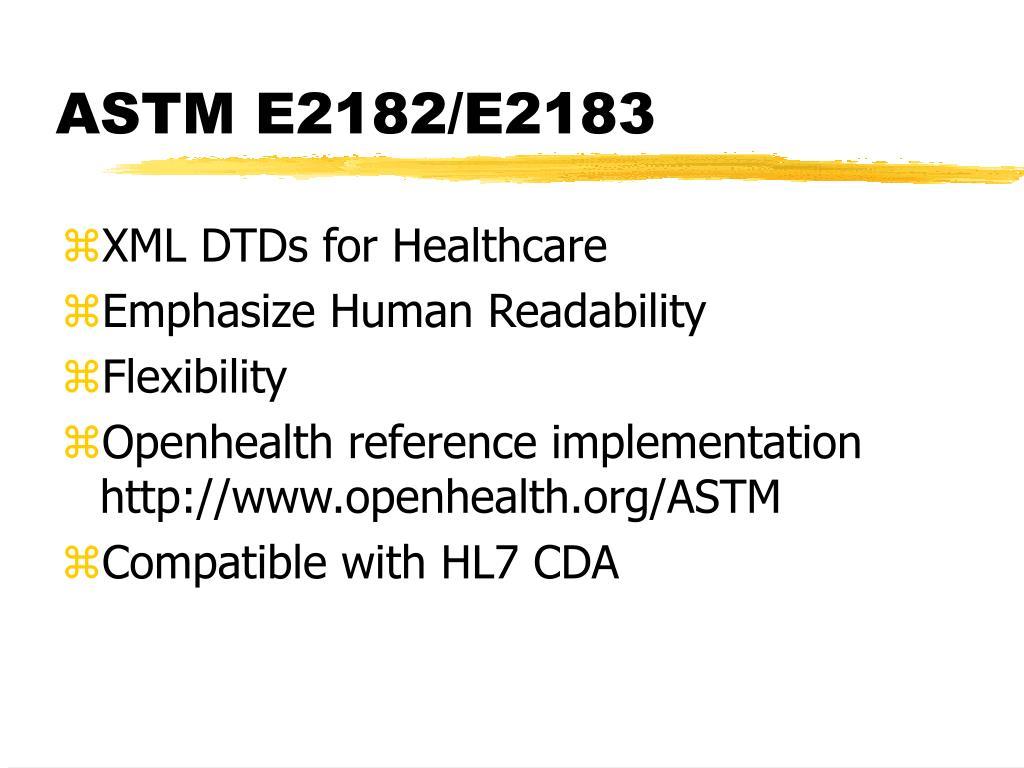 ASTM E2182/E2183