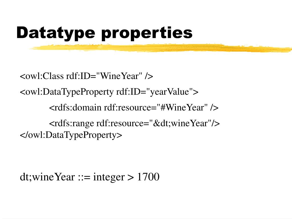 Datatype properties