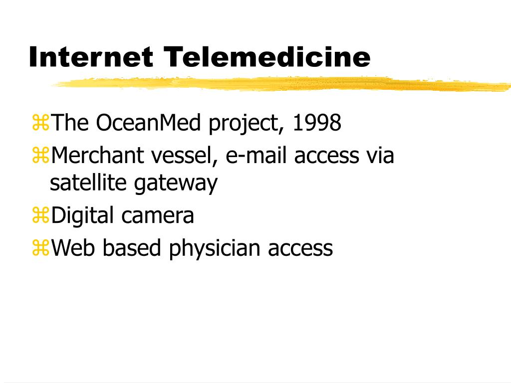 Internet Telemedicine