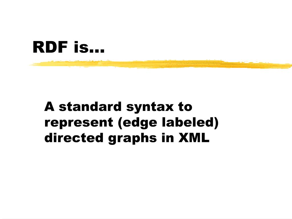 RDF is...