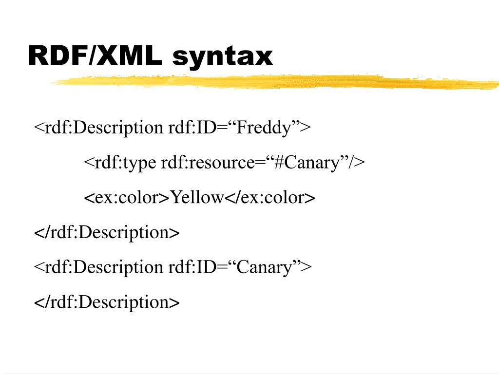 RDF/XML syntax