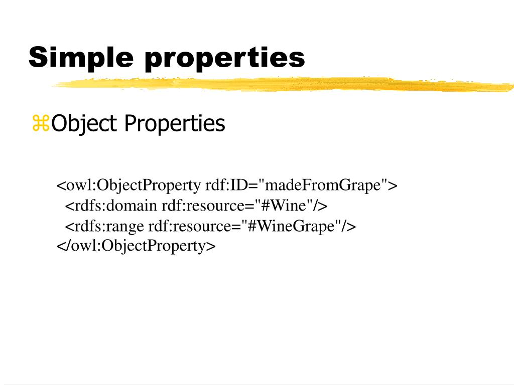 Simple properties