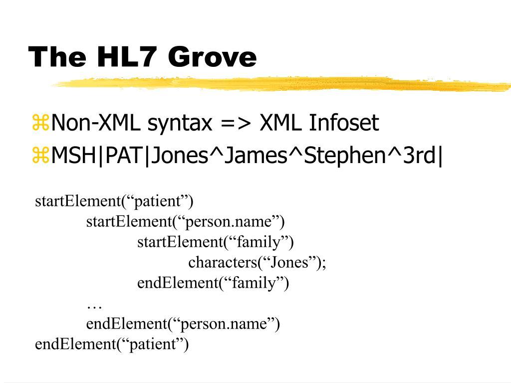 The HL7 Grove
