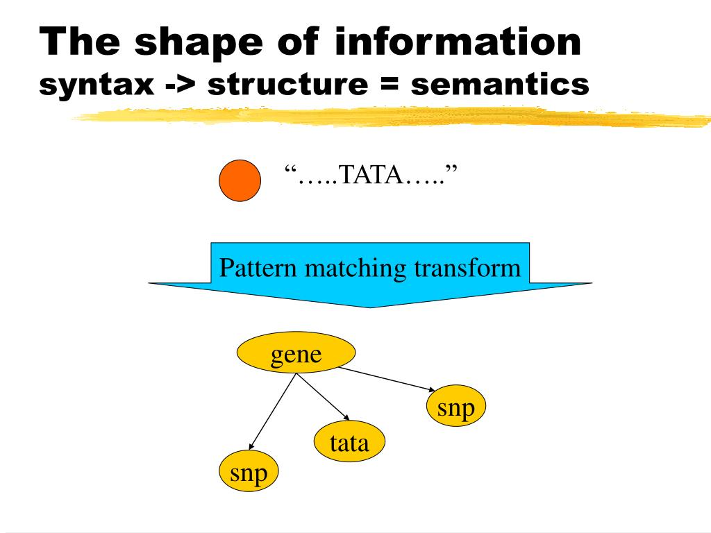 The shape of information