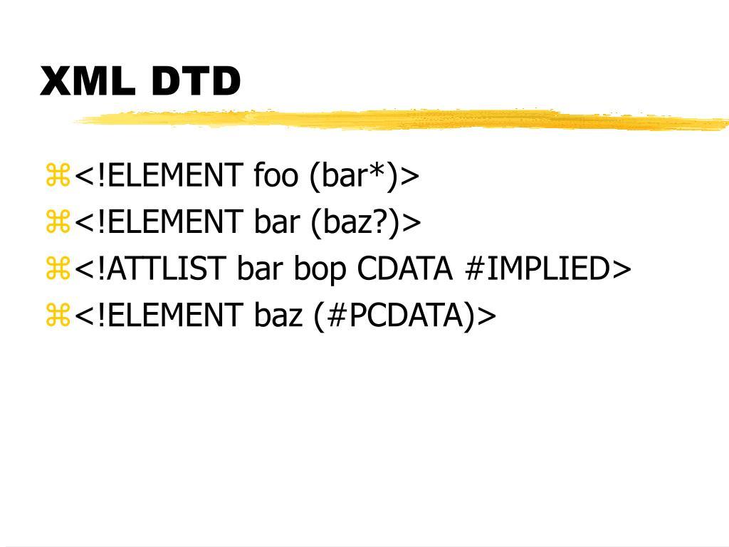 XML DTD