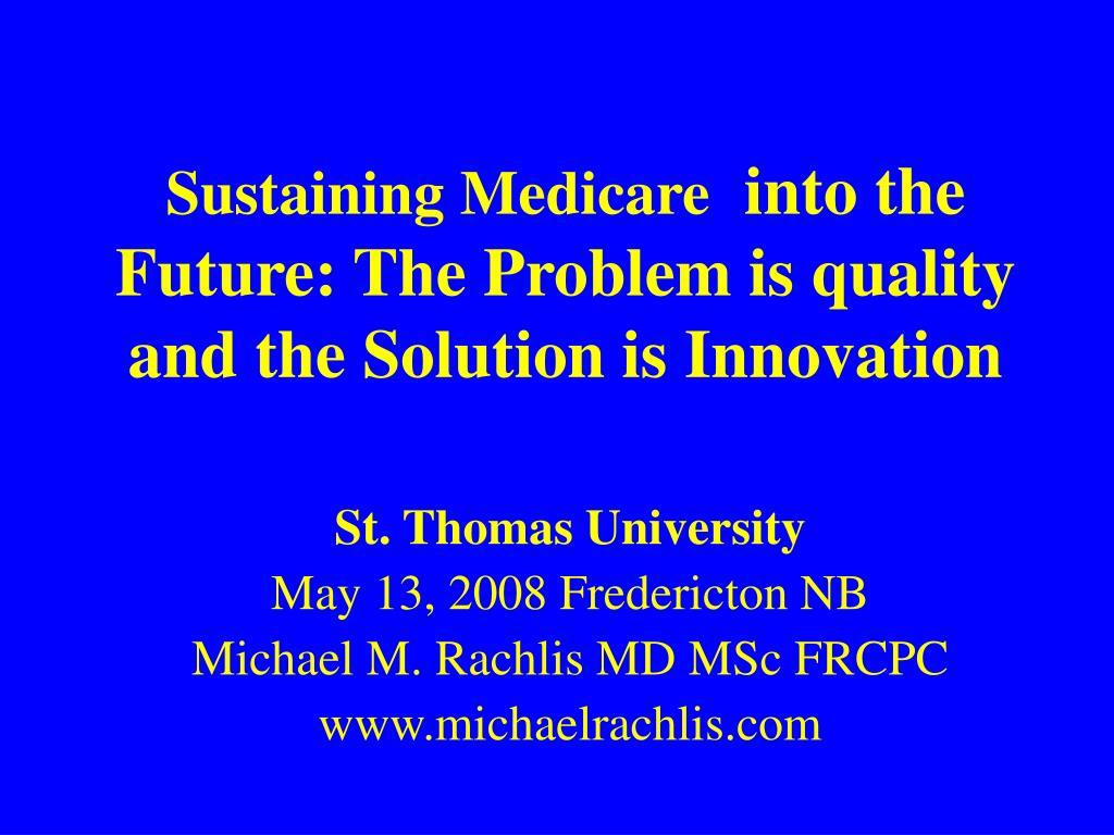Sustaining Medicare
