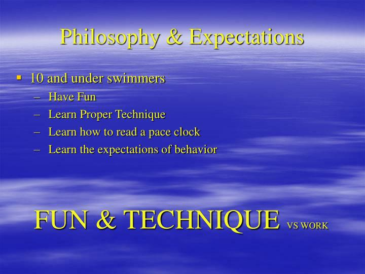 Philosophy expectations
