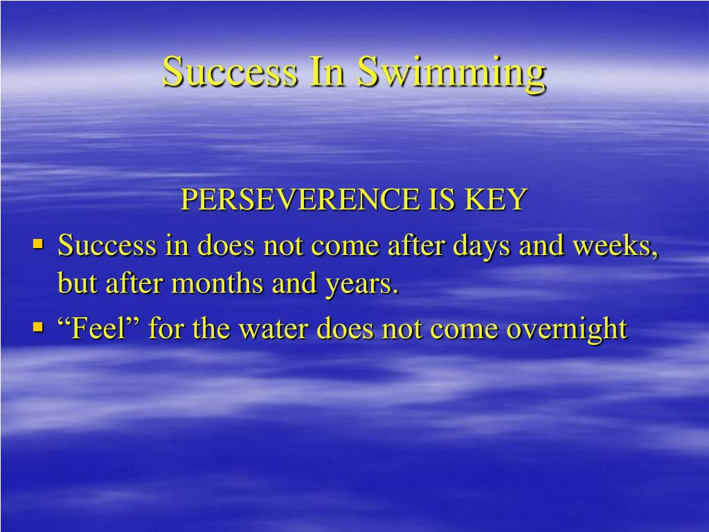 Success In Swimming