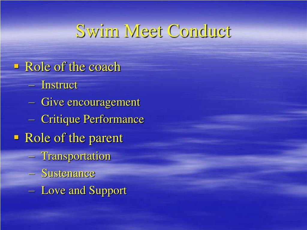 Swim Meet Conduct