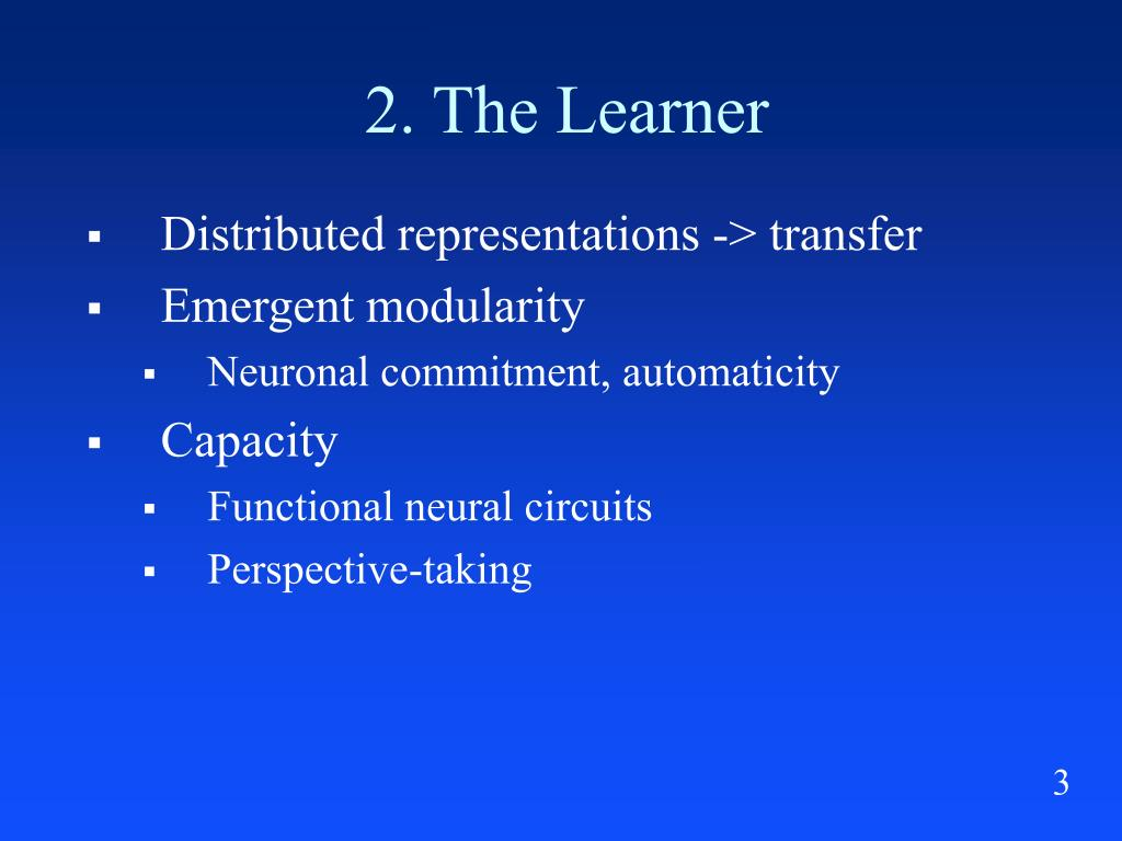2. The Learner