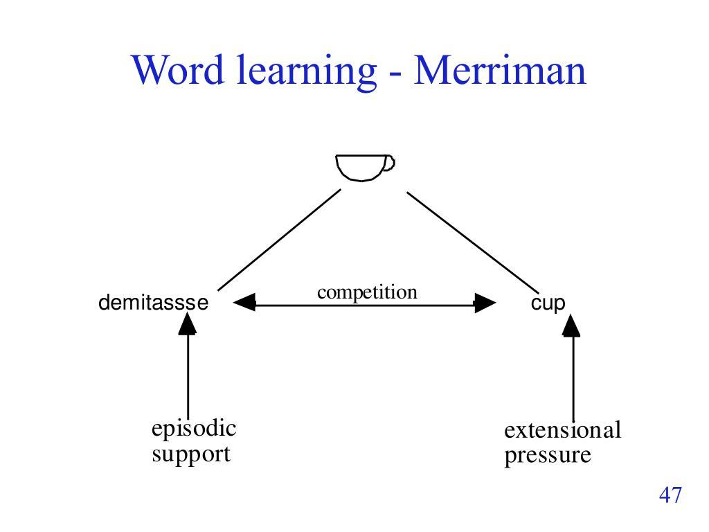 Word learning - Merriman