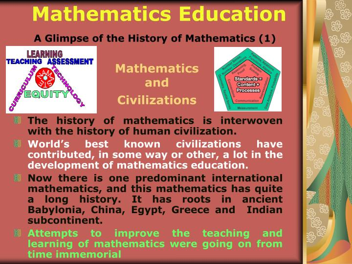 A glimpse of the history of mathematics 1