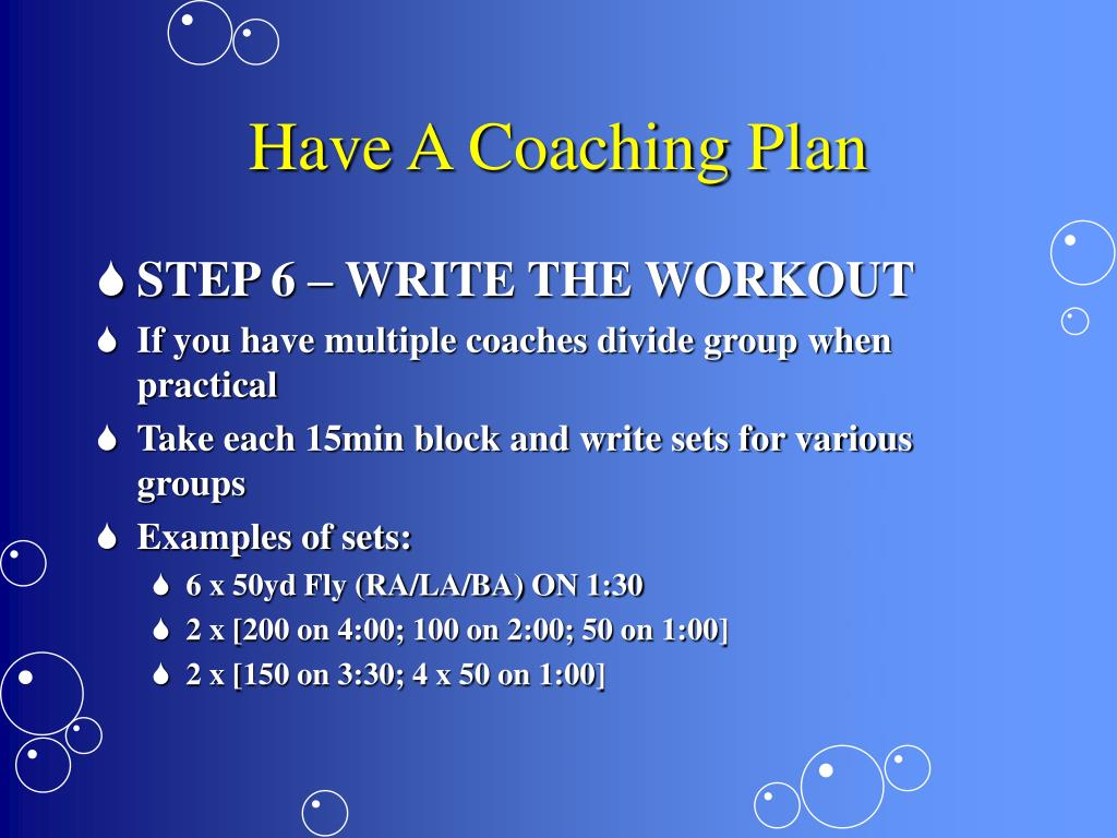Have A Coaching Plan