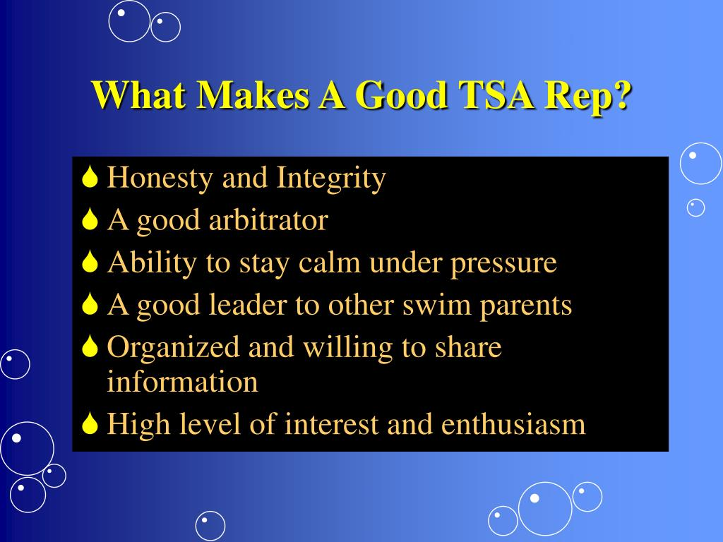 What Makes A Good TSA Rep?