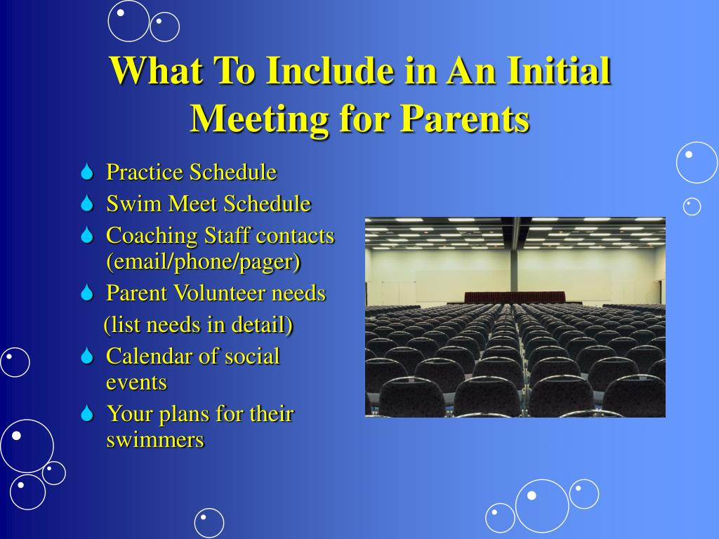 What To Include in An Initial Meeting for Parents