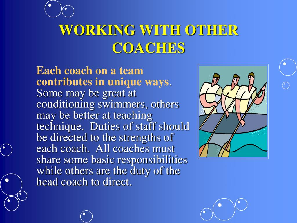 WORKING WITH OTHER COACHES