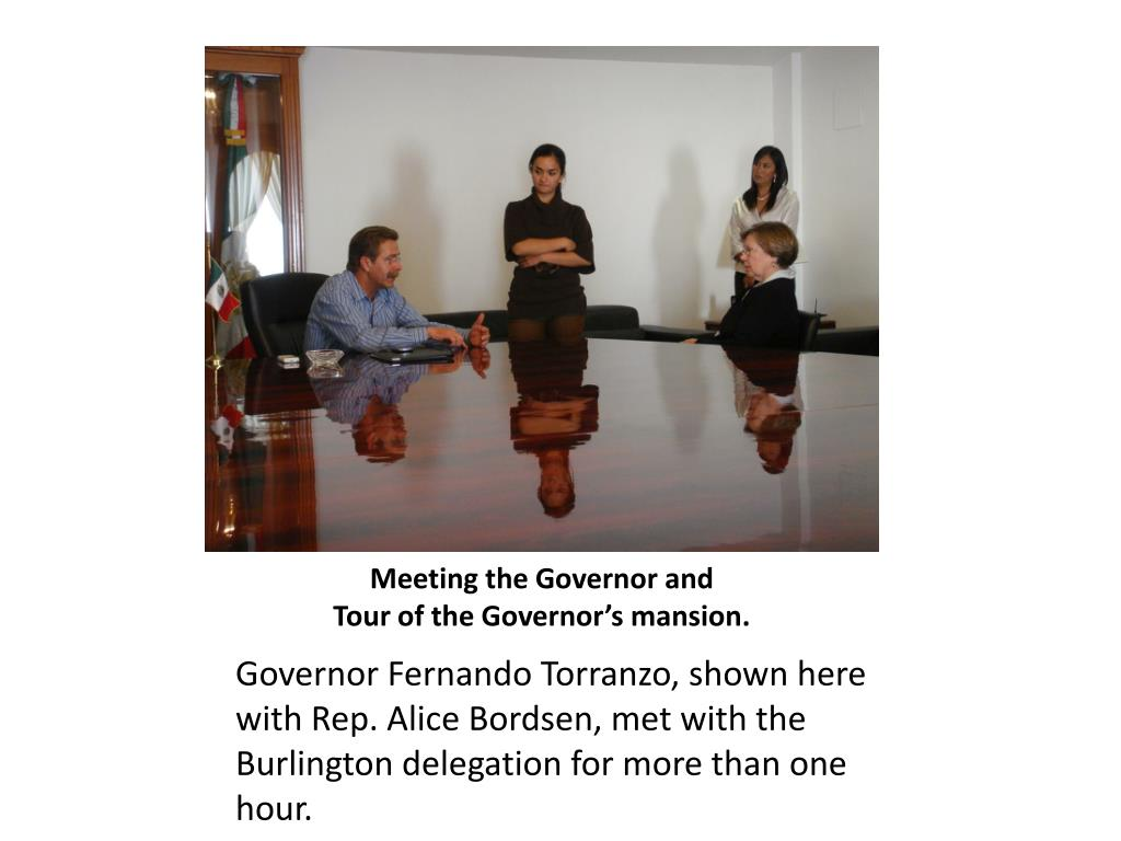 Meeting the Governor and