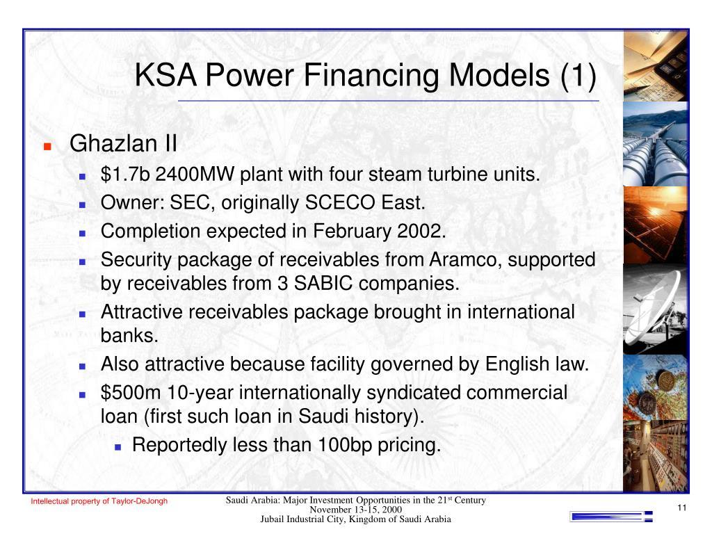 KSA Power Financing Models (1)
