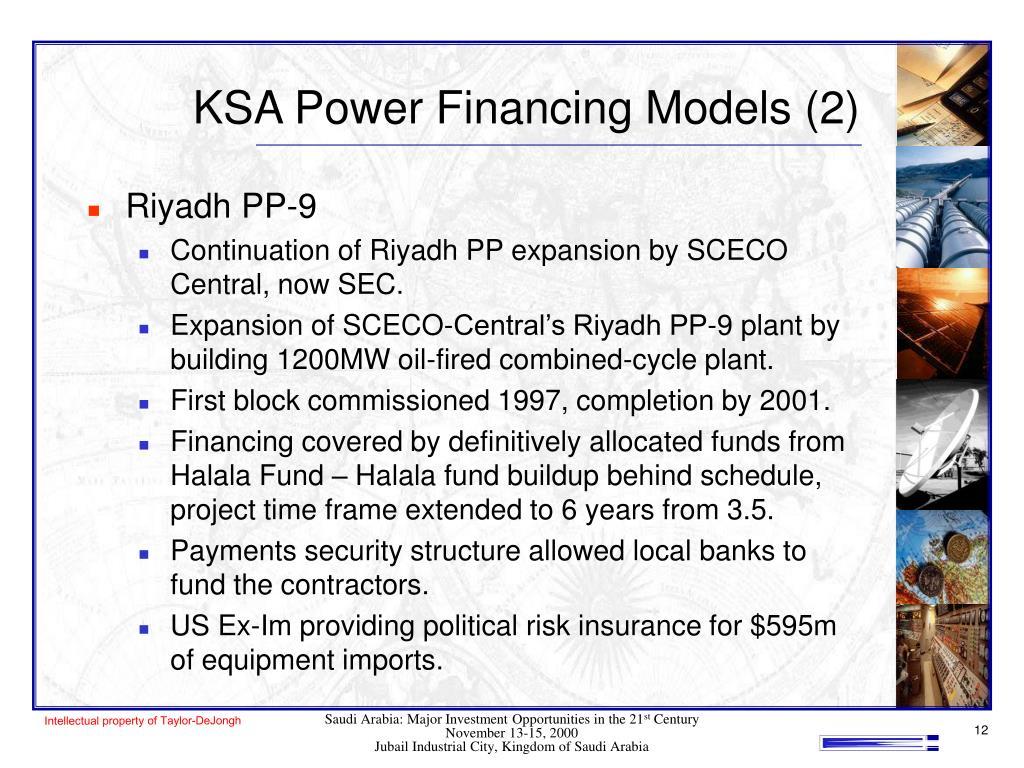 KSA Power Financing Models (2)