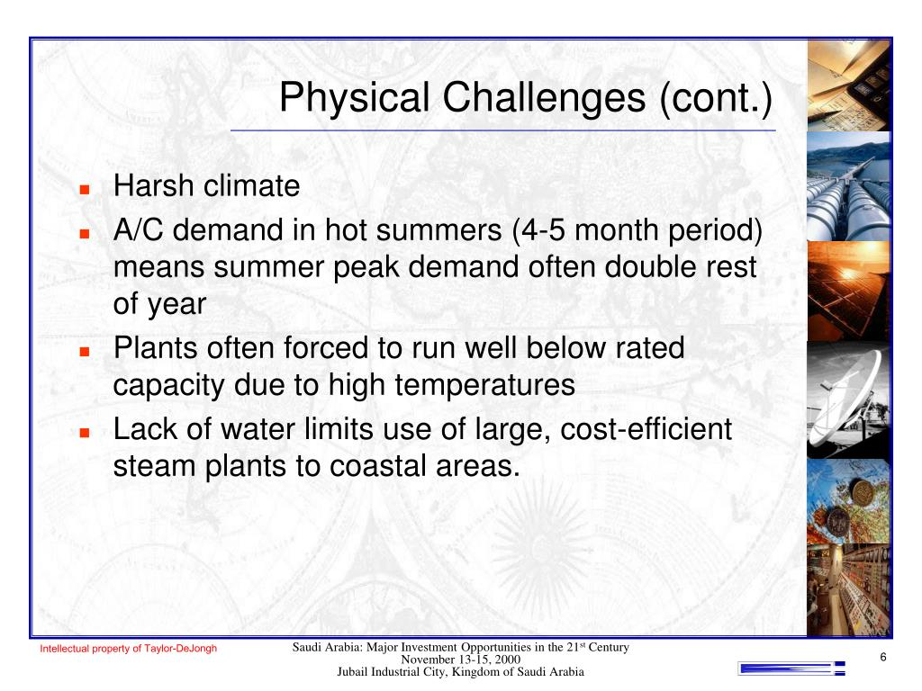 Physical Challenges (cont.)