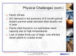 physical challenges cont