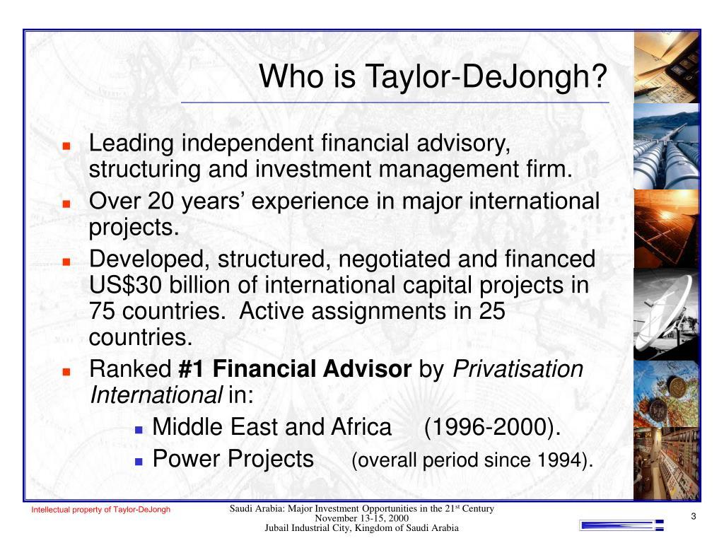 Who is Taylor-DeJongh?