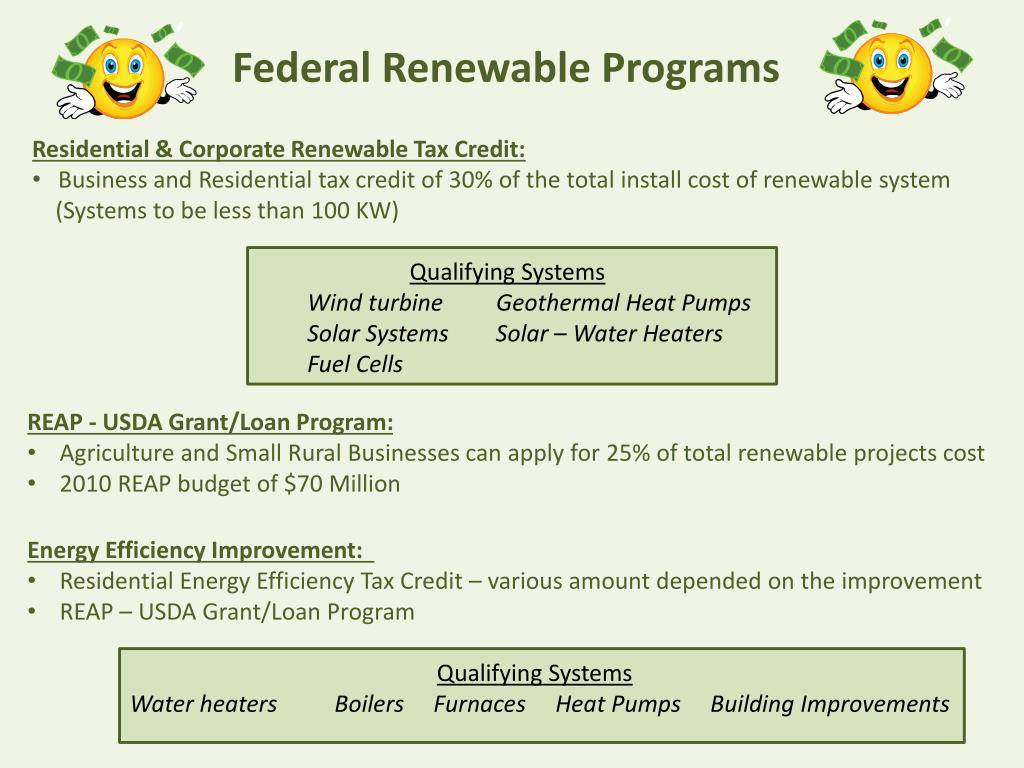 Federal Renewable Programs