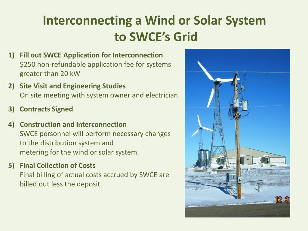 Interconnecting a Wind or Solar System