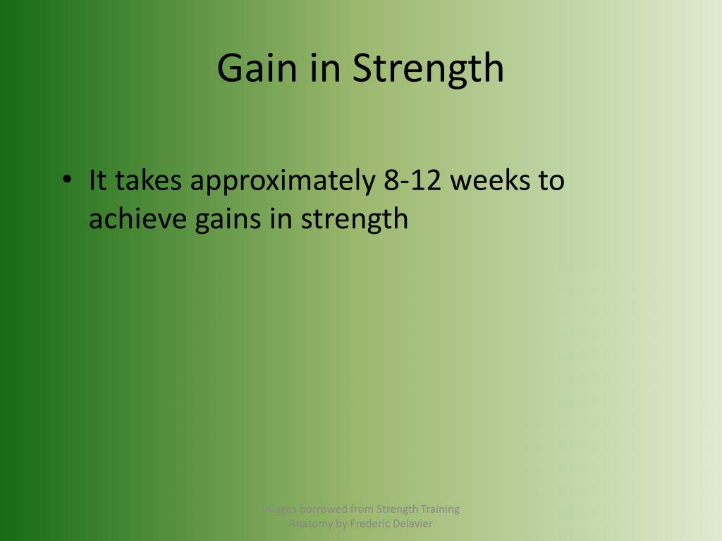 Gain in Strength