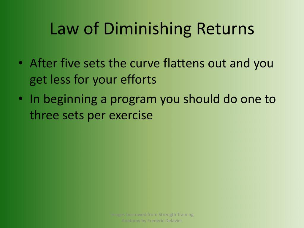 Law of Diminishing