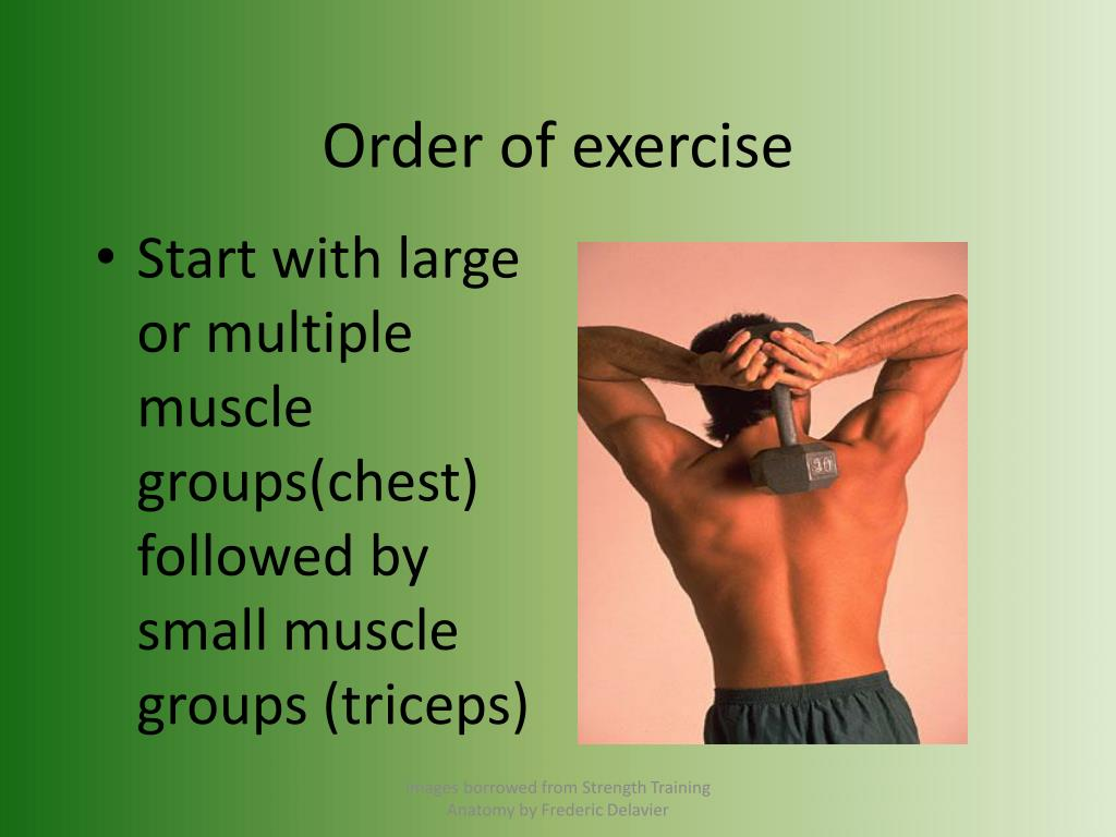 Order of exercise