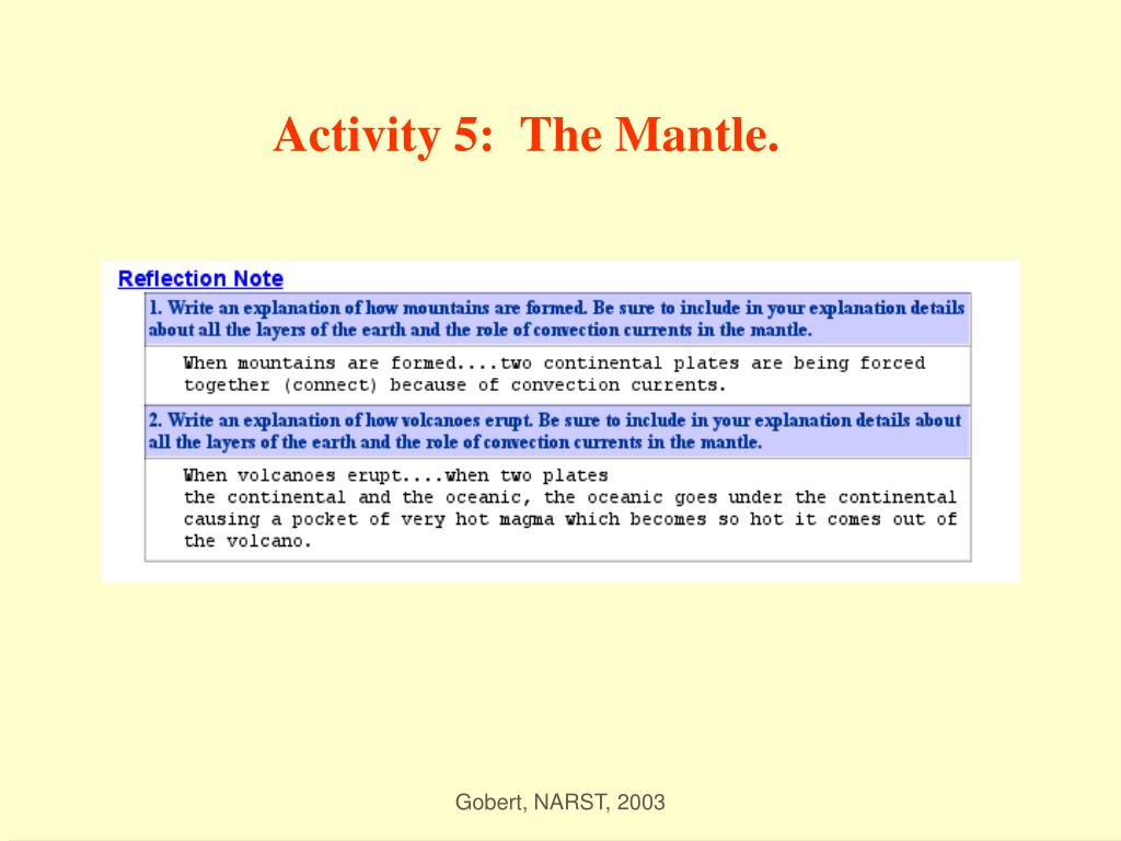 Activity 5:  The Mantle.