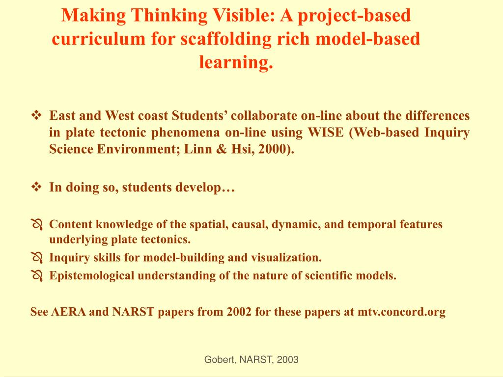 Making Thinking Visible: A project-based curriculum for scaffolding rich model-based learning.