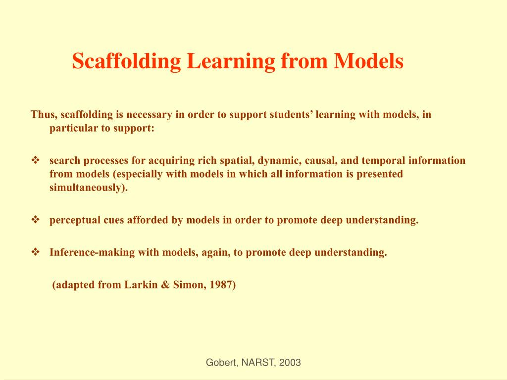 Scaffolding Learning from Models