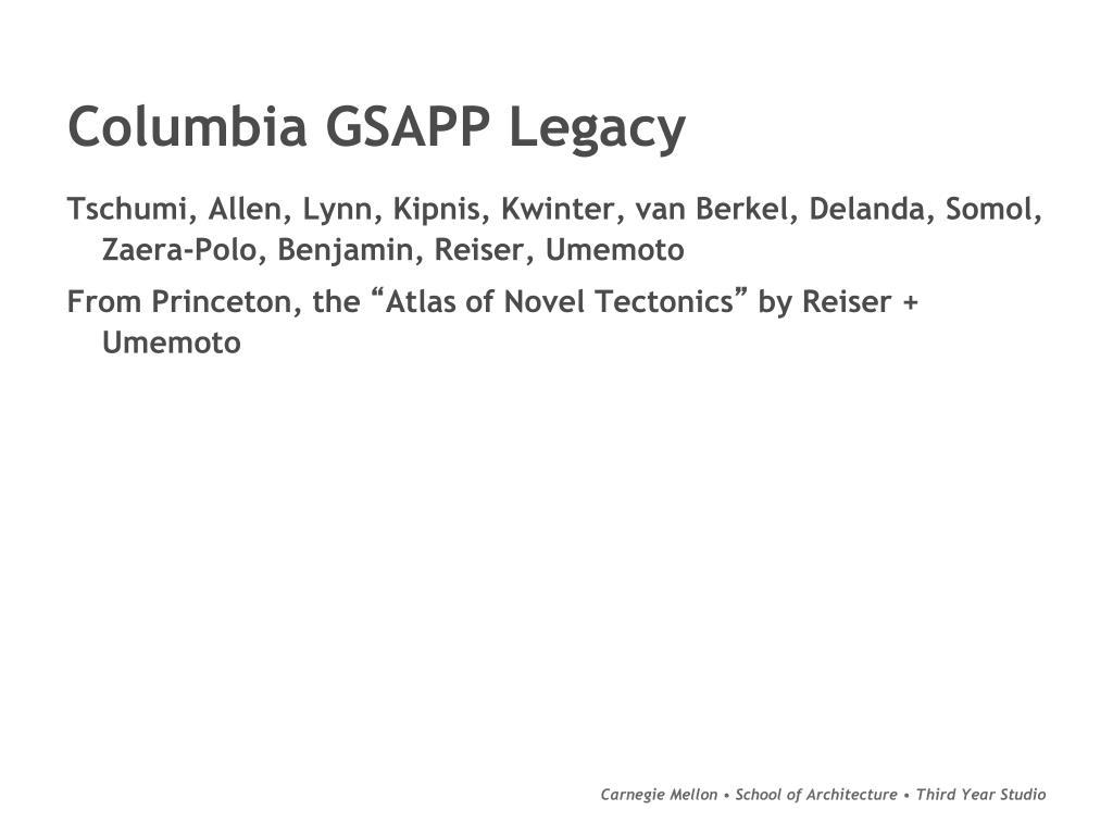 Columbia GSAPP Legacy