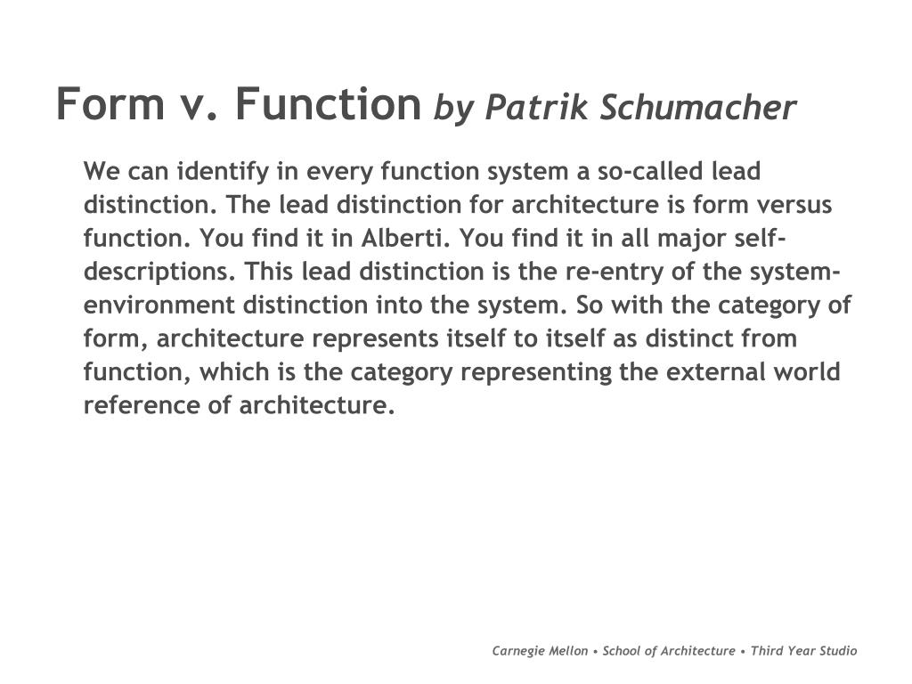 Form v. Function