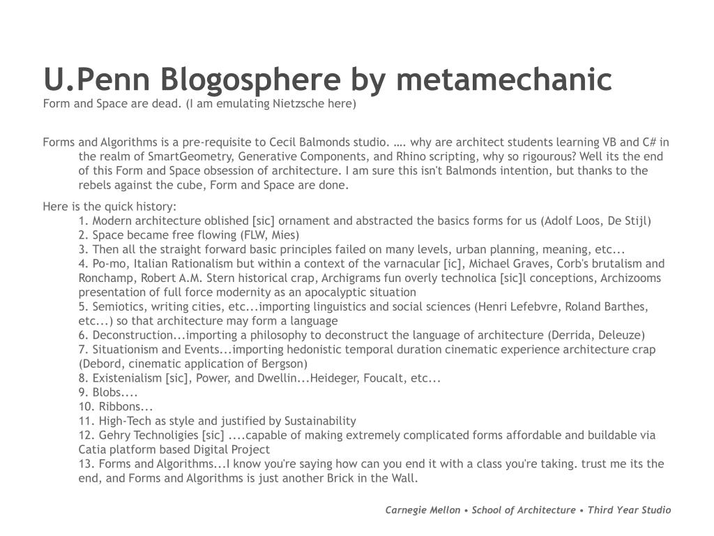 U.Penn Blogosphere by metamechanic